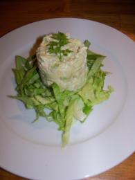 Torentje van avocado met krab